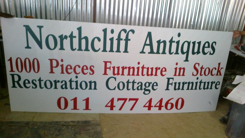 SIGNWRITING...Northcliff antique